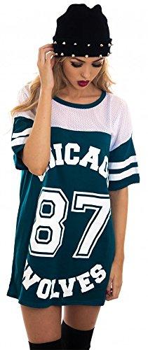 t-shirt-de-baseball-long-et-ample-pour-femme-motifs-chicago-87-wolves-style-universitaire-turquoise-