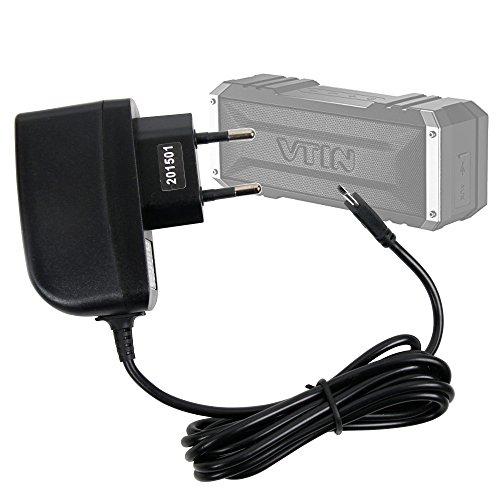 DURAGADGET Cargador (2 Amperios) Para Altavoz Portátil Vtin Royaler / Vtin Punker - Con Conexión Micro USB Y Enchufe Europeo De Pared