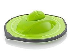 Comag automatischer Staubwischroboter Slim mit waschbarem Staubpad (1,8W, 2,4V, 600mAh, flach) grün
