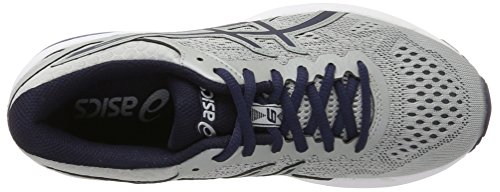 Asics Gt-1000 6, Scarpe Running Uomo Grigio (Mid Grey/peacoat/directoire Blue)