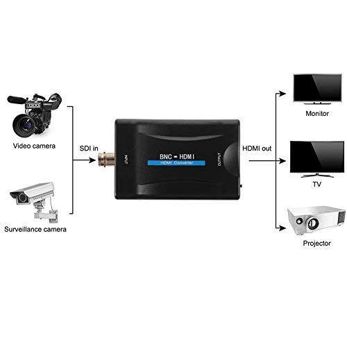 BNC zu HDMI Video Konverter 1080P/720P mit Audio für Kamera/CCTV/DVR AC1420 kompatibel mit HDCP HDMI1.3 Überwachungsmonitor Bnc-audio