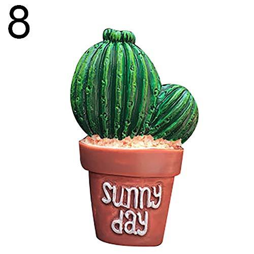 qhtongliuhewu 1 x Deodorante per Auto a Forma di Cactus, gradevole Profumo, Decorazione per condizionamento Auto