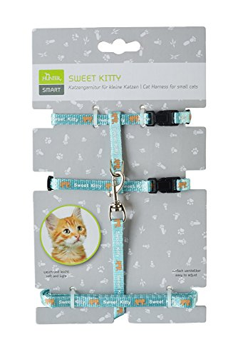Hunter Katzengarnitur Sweet Kitty, Nylon, hellblau