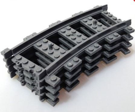 LEGO City - 4 x Track Curved