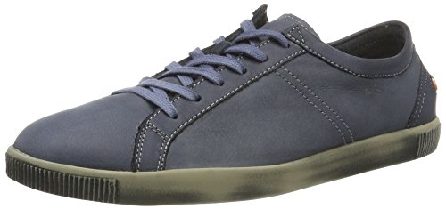 Softinos Tom Washed, chaussons d'intérieur homme Bleu Marine