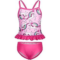 6cb83d726c40 AmzBarley Unicorno Costumi a Due Pezzi da Ragazze Bambina Costume da Bagno  Mare Piscina Nuoto Nuotare