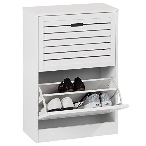 IDIMEX Schuhkipper Schuhschrank Adria, in Weiß, 2 Klappen mit Schuhfach in Doppelreihe