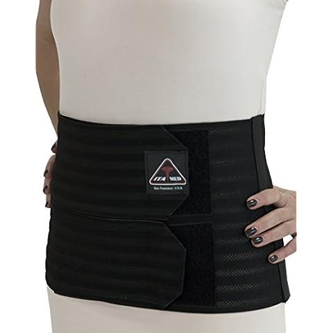 ita-med ab-309(W) 2x -large Negro Mujer Apoyo post-partum abdominal Carpeta de anillas con elástico