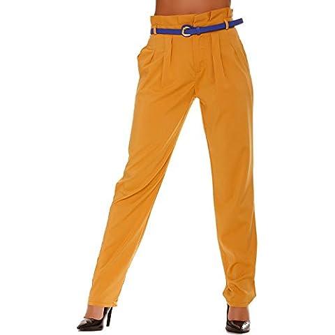 Miss Wear Line -  Pantaloni  - a sigaretta - (Pantaloni Misses Lino)
