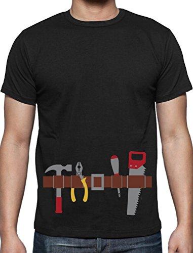 Hammer Handwerker Gürtel Kostüm Geschenk für Ihn T-Shirt Large ()