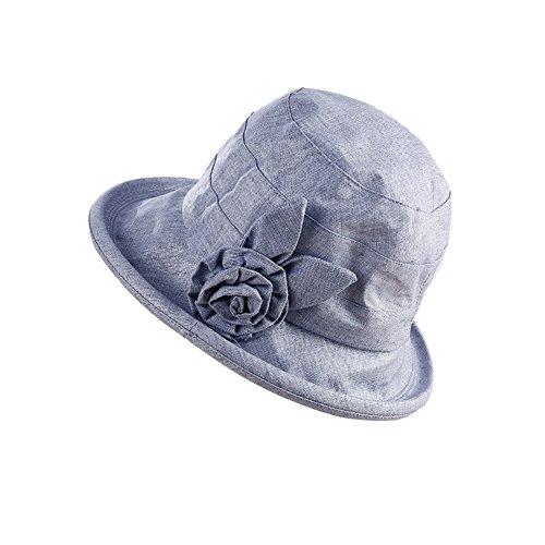pieghevole reversibile Paciffico estivo UPF50+ cappello da sole da donna a tesa larga pieghevole