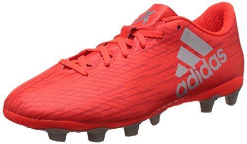 adidas X 16.4 Fxg, Scarpe da Calcio Uomo, Rosso (Solar Red/Silver Met,/Hi-Res Red), 42 EU
