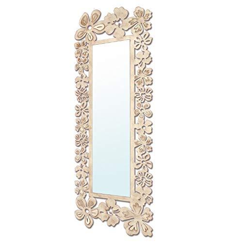 Espejo vestidor de forja Modelo Flores - 6-Negro