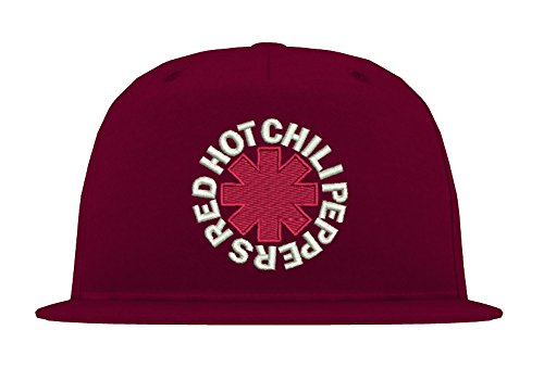 TRVPPY 5 Panel Snapback Cap Modell Red Hot Chili Peppers, Weiß-Burgundy, B610