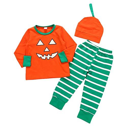 Orange Anzug Haut Kostüm Kinder - Blaward My 1st Halloween Outfits Baby Jungen Mädchen Bruder Passendes Kostüm Orange Pumpkin Printed Romper Pants Set