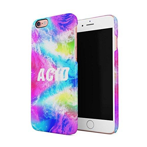 Acid Trippy Psychedelic Tie Dye Dünne Rückschale aus Hartplastik für iPhone 6 & iPhone 6s Handy Hülle Schutzhülle Slim Fit Case cover Rainbow Acid