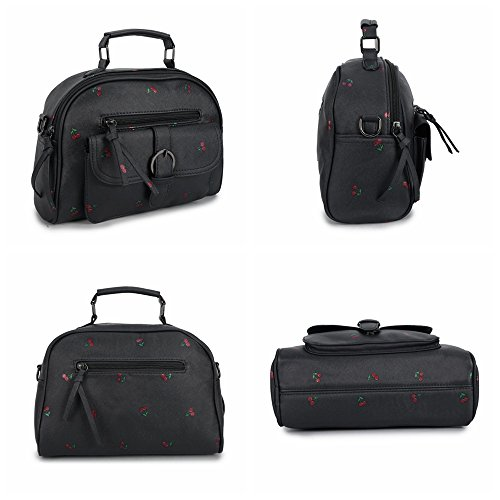 Mufly Handbag Donna Borsa a Spalla in PU con Tracolla regolabile Casual Classica Elegante per Appuntamento Nero