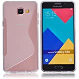 Voguecase® Pour Samsung Galaxy A5 (2016) A510F, TPU Silicone Shell Housse Coque Étui Case Cover (S Line Transparent)+ Gratuit stylet l'écran aléatoire universelle
