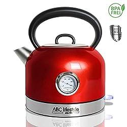 kabelloser Camping Wasserkocher 1,7 Liter in grau nur 1000W /• Edelstahl Tee Kessel Wasserkessel K/üche Outdoor 1,7L Grau #0618 Kompakter