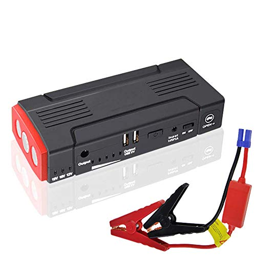 Car Emergency Battery Starter, 13800mAh 12V Auto Power Pack Portable Jump Pack, Auto Battery Booster Pack Power Bank mit USB Port LED-Taschenlampe,Red