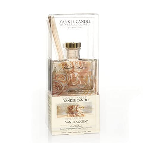 Yankee Candle Raumdeo mit Duftstäbchen, Duft Vanilla Satin