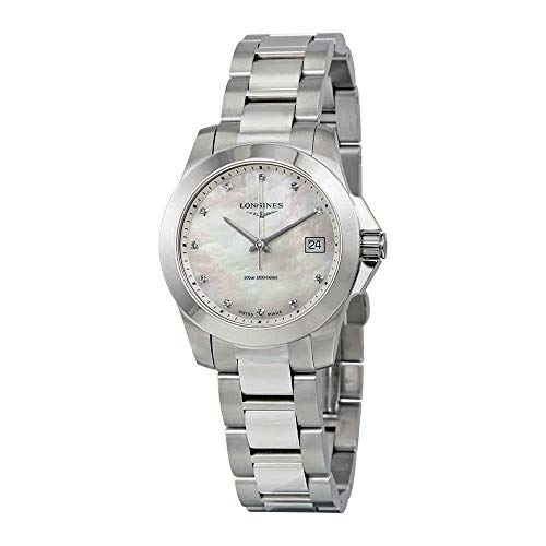 Longines Women's 34mm Steel Bracelet Case Quartz MOP Dial Watch L33774876