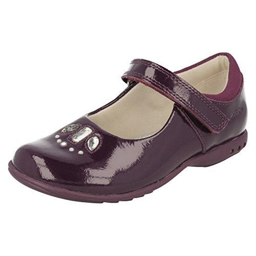 Clarks Trixi Spice Girls chaussure en cuir rose ou violet Purple Patent 12½ F