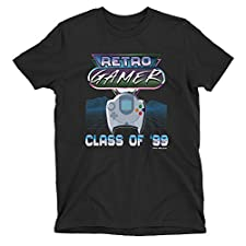 Free Will Shirts Retro Gamer Kids SEGA Dreamcast T-Shirt Class of 99' Console Top Black