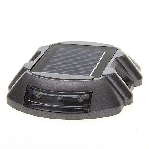 Preisvergleich Produktbild TOOGOO(R) Bodenstrahler Bodenleuchte Solarleuchte 6 LEDs Solarlampe Gelb Wasserfest