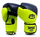 Tapout Atomic Boxhandschuhe aus Dura-Leder für Kinder und Erwachsene Größe 4 Unzen - 16 Unzen ** freie Handwickel ** (Kalk/Grau, 4 oz)