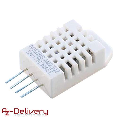 AZDelivery  DHT22 AM2302 Temperatursensor und Luftfeuchtigkeitssensor für Arduino mit gratis eBook!