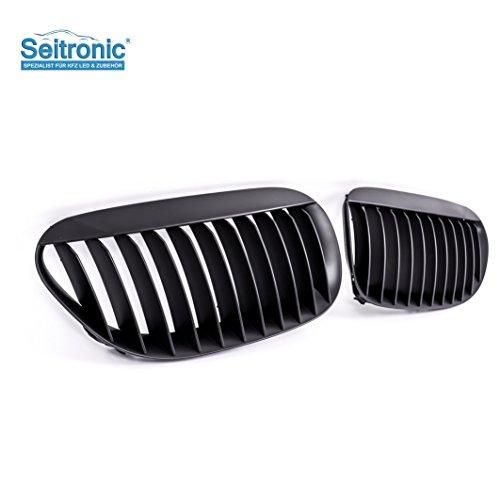 Seitronic® Nieren Kühlergrill/Front Grill in MATT SCHWARZ, aus hochwertigem ABS - Material !