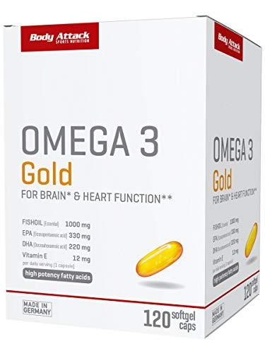 Body Attack Omega 3 Gold, 1er Pack(1 x 163 grams)