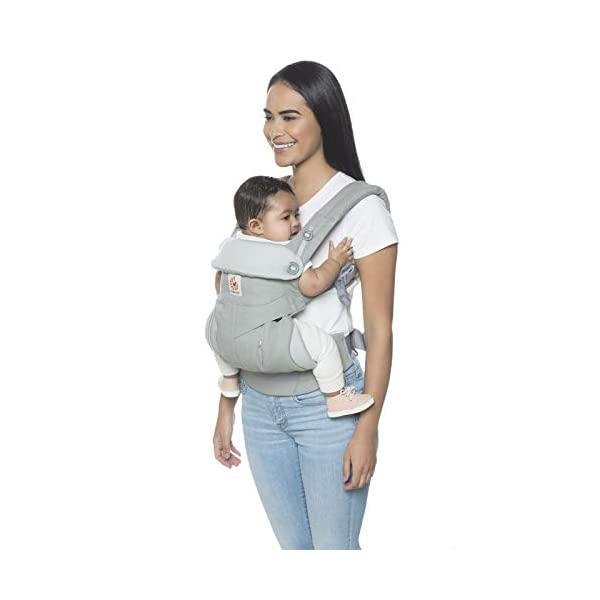 Ergobaby Babycarrier 360 4 Postition Carrier Sunrise Pearl Grey Ergobaby 4 ergonomic carry positions: front-inward, front-outward, hip, & back Weight range: 12- 33 lbs. (from 7-12 lbs. with infant insert, sold separately) Ergonomic seat for baby, adjustable for forward-facing 3
