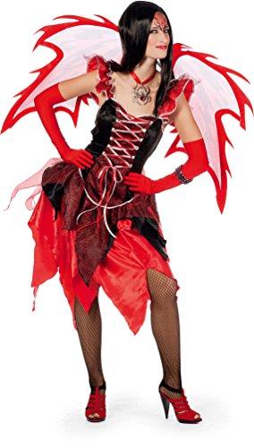 eufel Kostüm Damen sexy Teufelin Teufelskostüm schwarz rot Größe 38 (Schwarzer Teufel Kostüm Damen)