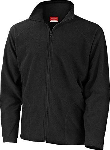 Vlies-mantel (Result Kern-Oberbekleidung für Männer für den Winter warme Vlies-Jacke mit Reißverschluss , schwarz)