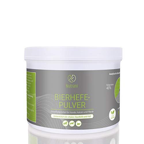 Nutrani Bierhefepulver für Hunde, Katzen und Pferde|250g - 100% natürliche Bierhefe mit wertvollen B-Vitaminen, Mineralien und Spurenelementen für glänzendes Fell und Vitale Haut