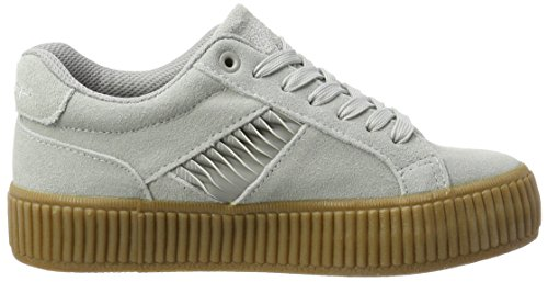 L.A. Gear Flame Vulcanized, Sneaker Donna Grau (Cool Grey/Crepe)
