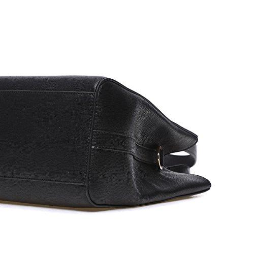 Kadell Damen Damen Luxus PU Leder Designer Handtaschen Top Handle Schulter Geldbörse für Frauen Schwarz Schwarz