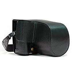 MegaGear Fujifilm X-T2 Ever Ready Leather Camera Case and Strap, with Battery Access - Black - MG870