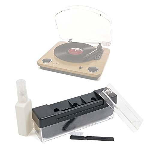 Kit de nettoyage pour ION Audio Max LP, Vinyl Motion Deluxe, ION Audio Air LP, Sony PSHX500.CEL platines vinyles - brosse et liquide de nettoyage (100ml), par DURAGADGET