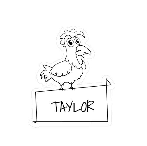 JOllipets Baby Kinder Aufkleber - Taylor - Variante: Tiere Zoo - Farbe: Design: Hahn Taylor Hahn