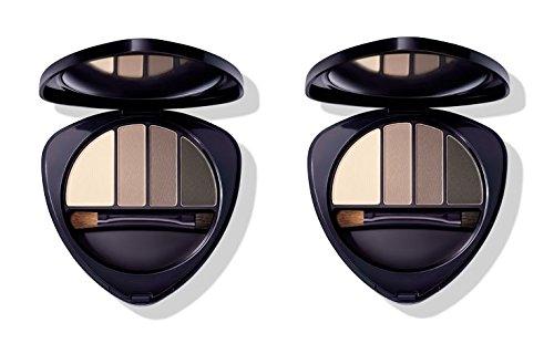 Dr.HAUSCHKA - Eye and Brow Palette 01 Stone 2 boîtes de 4,4 g, Fard à paupières en 100% naturel, tons vellutate et opaques, profondeur et espressività du regard