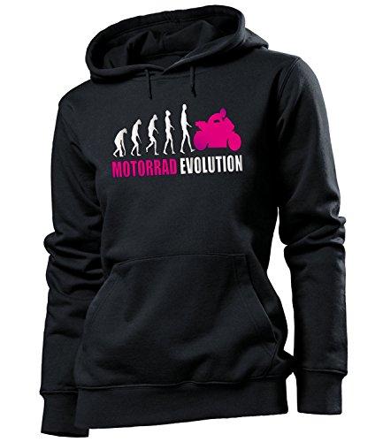 love-all-my-shirts Motorrad Evolution 539 Motorsport Frauen Damen Hoodie Pulli Kapuzen Pullover Kapuzenpullover Sportbekleidung Sport Fanartikel Schwarz Aufdruck Pink L (Hoodie-l Love Damen Pink)
