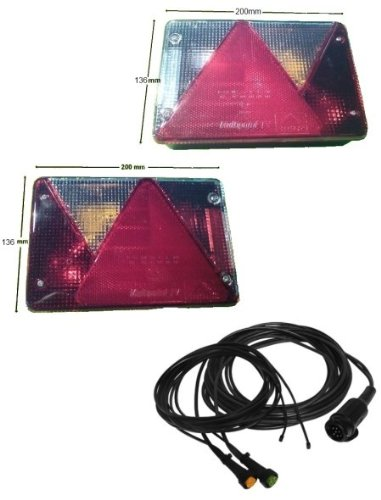 Aspöck Multipoint 4 - Leuchten Set - 7 polig - Hauptkabelläge wählbar, K:7.5 m + Abgang