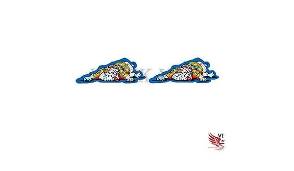 VITCIK Motorradhelm-Aufkleber f/ür Rennmotorrad Vinylaufkleber Logo-Sticker 46