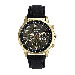 Cramberdy Uhr Damen Armbanduhr Herren Armbanduhr MäDchen Mode Uhren Leder Band Analoge Legierung Quarz Armbanduhr