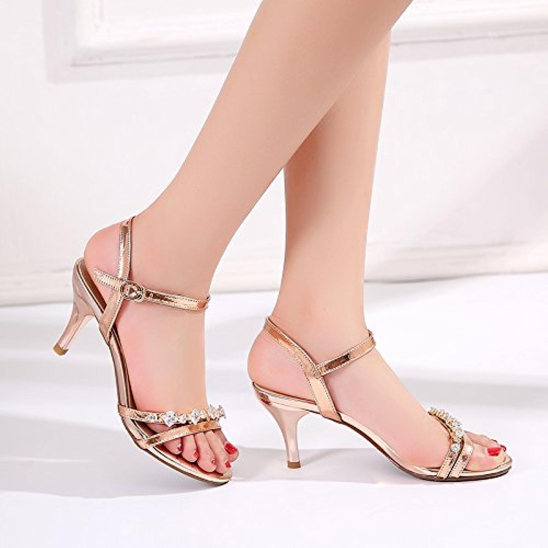 SHOESHAOGE Die Schuhe High-Heel Fein Mit Sandalen Weibliche Wasser Bohren Mit Damen Schuhe
