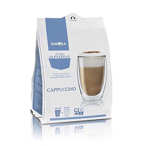 160 Cialde Capsule Compatibili Nescafe' Dolce Gusto Gimoka Cappuccino Originali