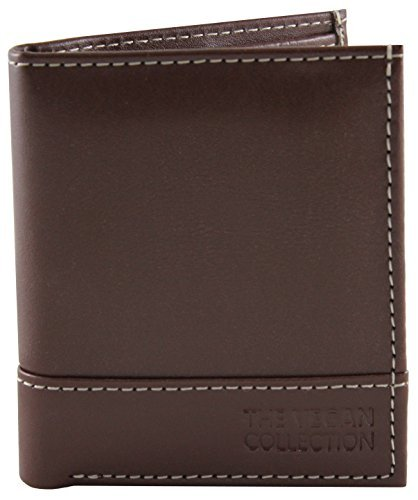 The Vegan Collection Coleman Bi-Fold Wallet (Brown)